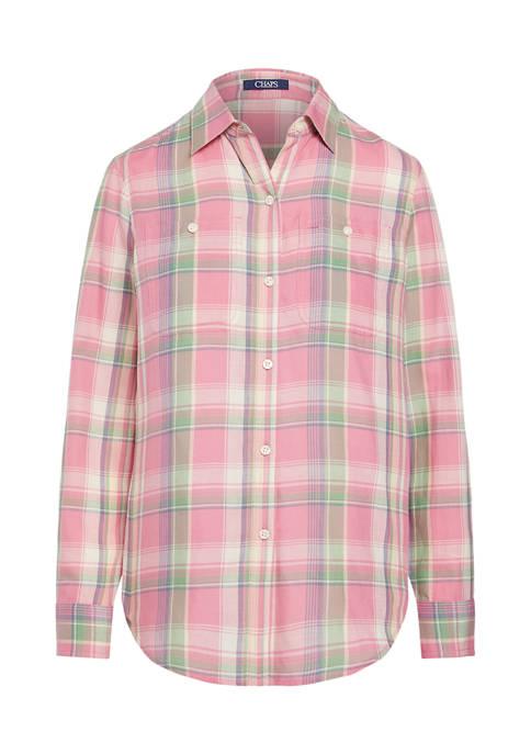 Petite Lightweight Cotton Utility Shirt