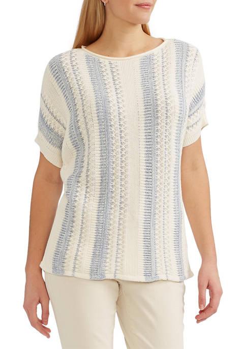 Chaps Petite Short Sleeve Sweater