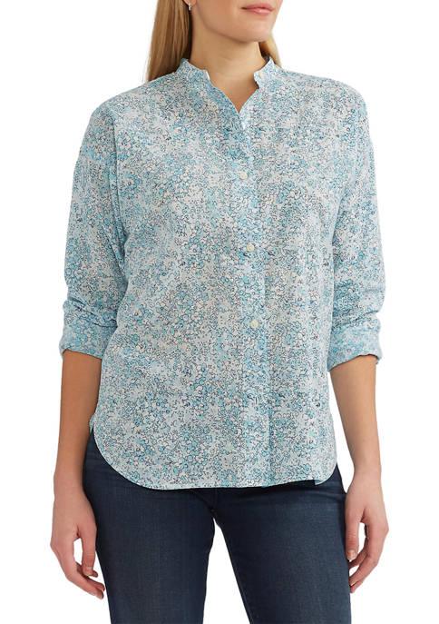 Chaps Petite Button Front Shirt