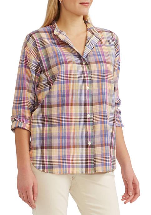 Petite Button Front Shirt