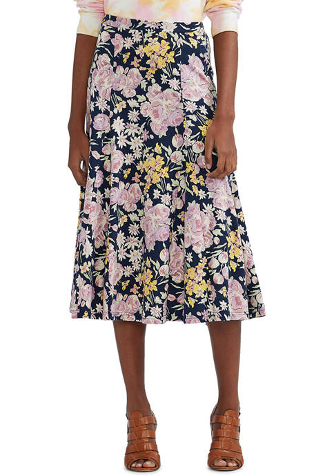 Chaps Petite Cotton A-Line Skirt