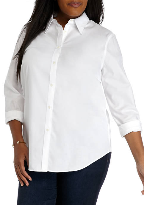 Chaps Plus Size Long Sleeve Non Iron Shirt