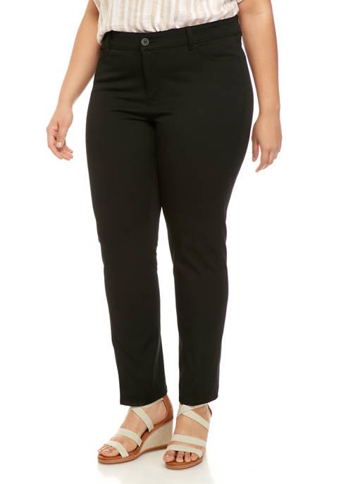 Chaps Plus Size Carmina Regular Casual Pants