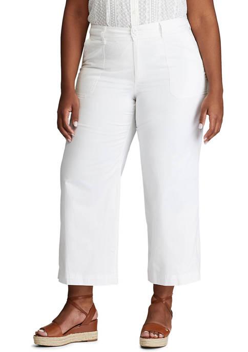 Chaps Plus Size Wide Leg Pants