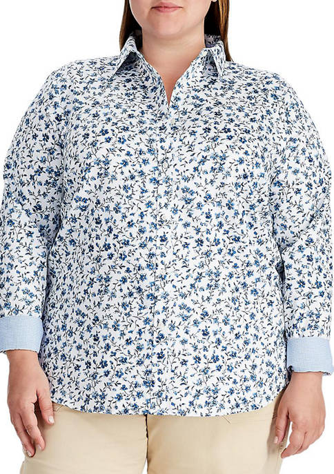 Chaps Plus Size No Iron Button Down Shirt