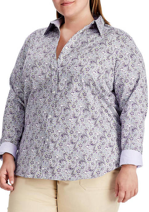 Chaps Plus Size No Iron Button Down Shirt
