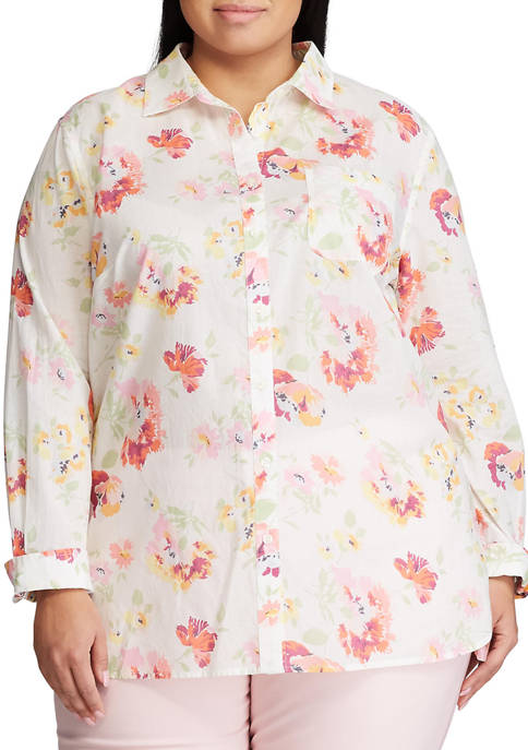 Chaps Plus Size Tommy Long Sleeve Button Down