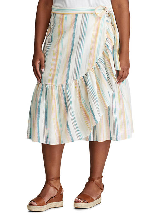Chaps Plus Size Wrap Skirt