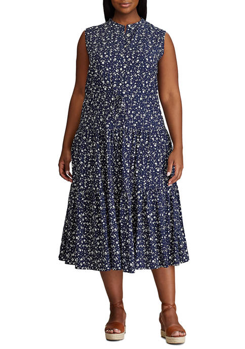 Chaps Plus Size Orly Sleeveless Dress
