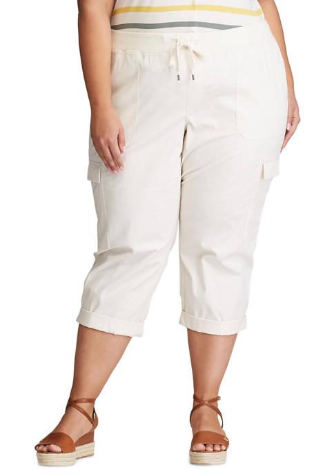 Chaps Plus Size Stretch Cotton Capri Pants