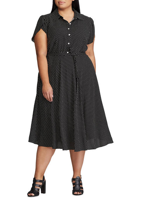 Chaps Plus Size Stephanie Short Sleeve Woven Dress