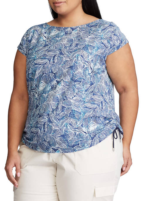 Chaps Plus Size Cinched Side Knit Top