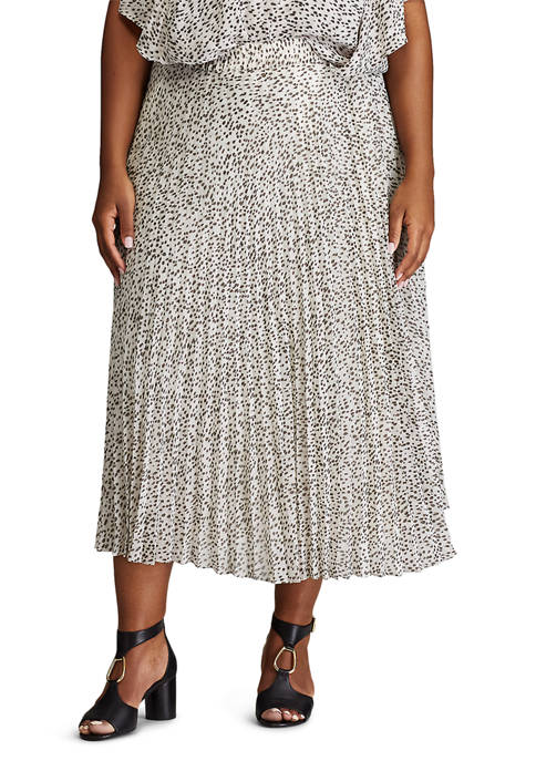 Chaps Plus Size Printed Maxi Skirt