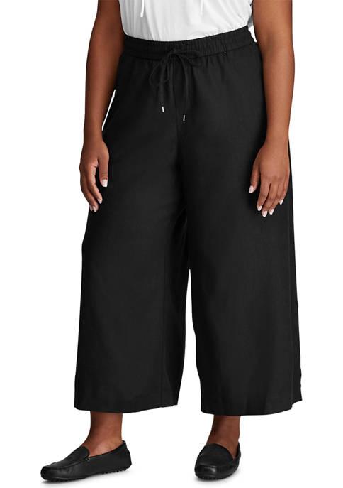 Chaps Plus Size Linen Straight Pants