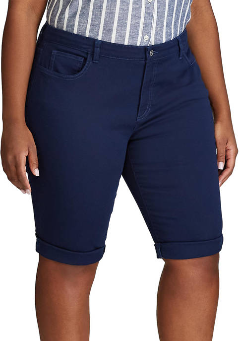 Chaps Plus Size Stretch Twill Shorts
