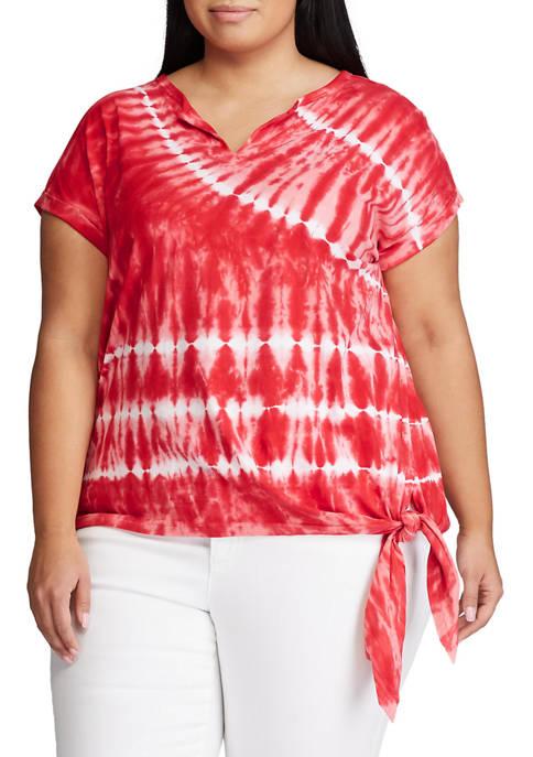 Chaps Plus Size Short Sleeve Knit Top