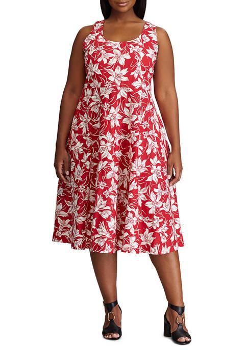 Chaps Plus Size Sleeveless Knit Dress