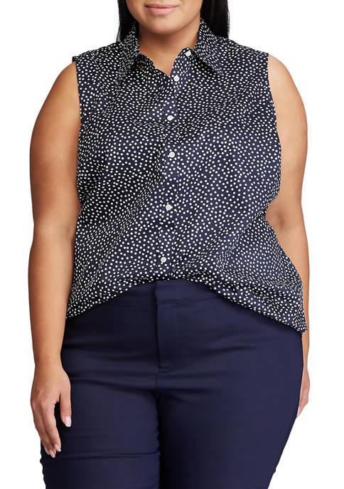 Chaps Plus Size Sleeveless Shirt