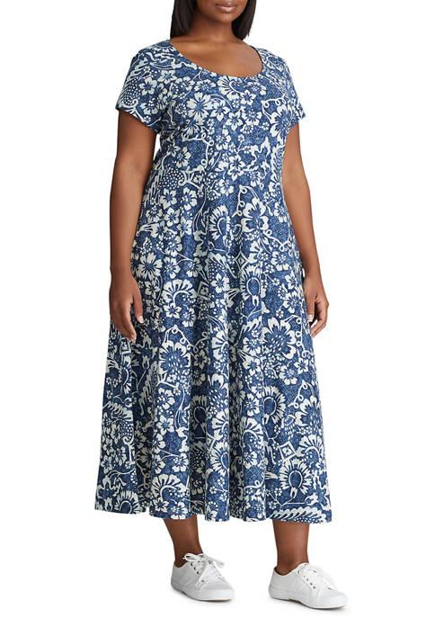 Chaps Plus Size Short Sleeve Dress