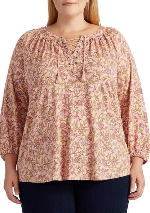 Chaps Plus Size Cotton Modal Top