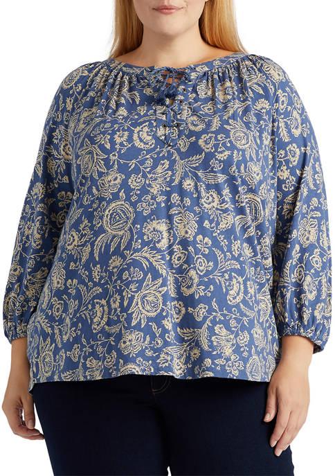 Chaps Plus Size Cotton-Modal Top