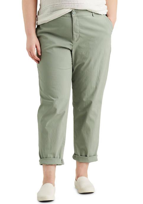 Chaps Plus Size Stretch Poplin Straight Pants