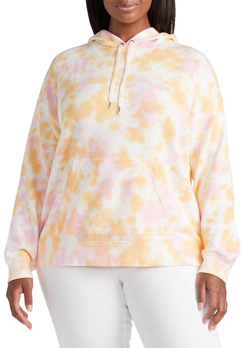 Chaps Plus Size Long Sleeve Knit Hoodie