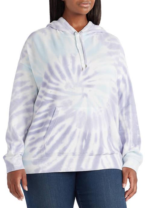 Chaps Plus Size Tie Dye Hoodie