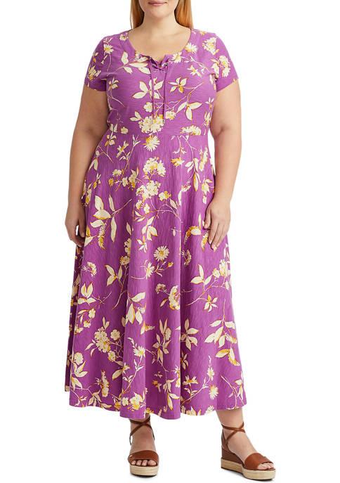 Chaps Plus Size Lightweight Short Sleeve Day Dress