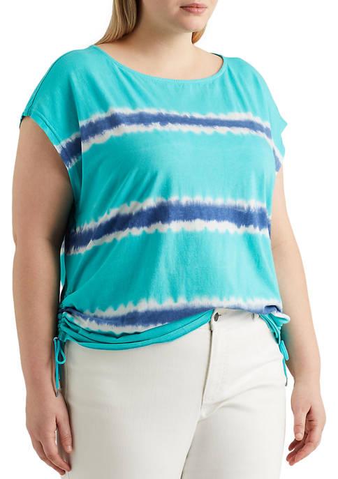 Chaps Plus Size Side Cinch Knit Top