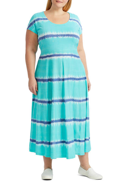 Chaps Plus Size Fit and Flare Midi Dress