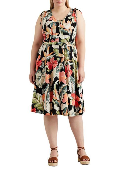 Chaps Plus Size Sleeveless Floral Dress