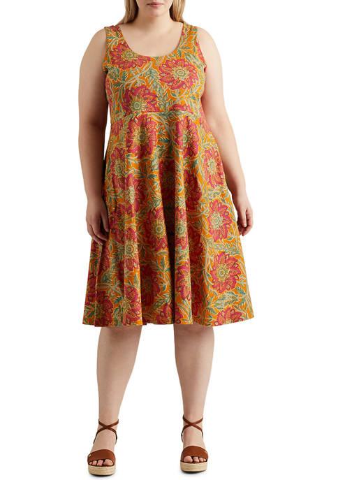 Chaps Plus Size Lightweight Cotton Jersey Vera Sleeveless