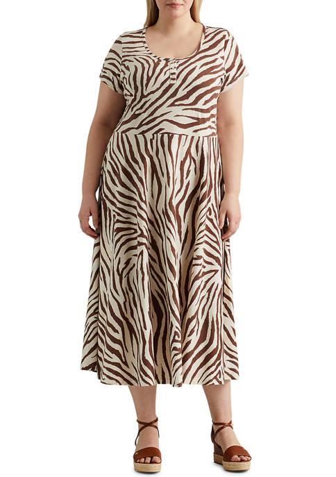 Chaps Plus Size Lightweight Cotton Jersey Short Sleeve