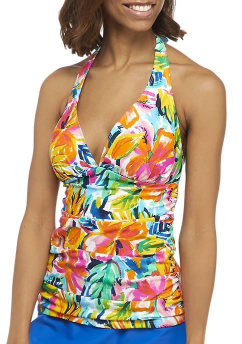 Bloom in Love Halter Swim Tankini Top