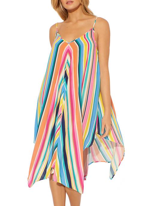 Bleu Rod Beattie Rayon Handkerchief Hem Beach Cover