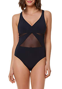 Bleu Rod Beattie Don't Mesh With Me One-Piece Swimsuit