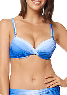 Bleu Rod Beattie Good Ombre Twist Front Underwire Bikini Swim Top