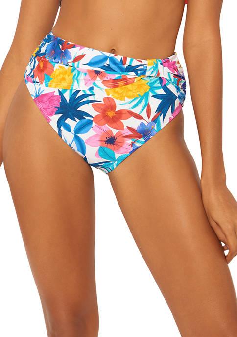 Bleu Rod Beattie Floral High Waisted Swim Bottoms