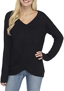 Mix Stitch V-Neck Sweater