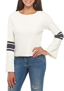 Chenille Arm Stripe Sweater