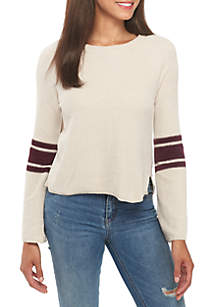 Chenille Arm Stripe Sweater
