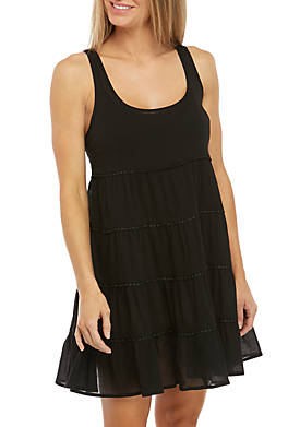 Tiered Swim Cover Up Dress
