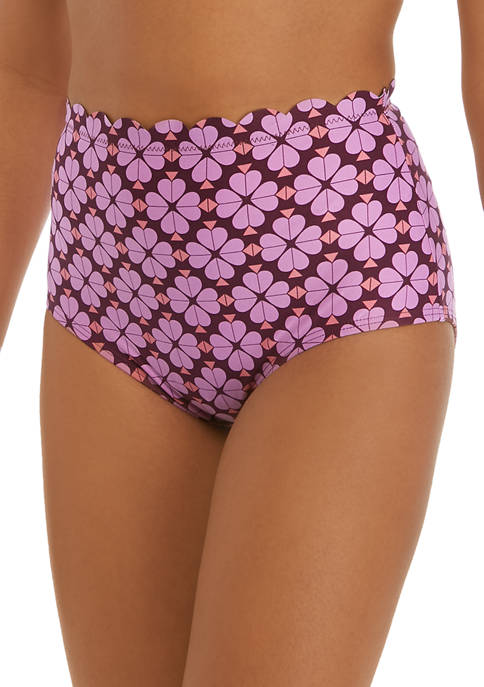 kate spade new york® Scalloped High Waist Swim
