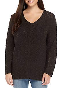 Taylor & Sage Back Destructed Sweater