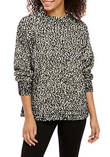 Taylor & Sage Long Bubble Sleeve Sweater