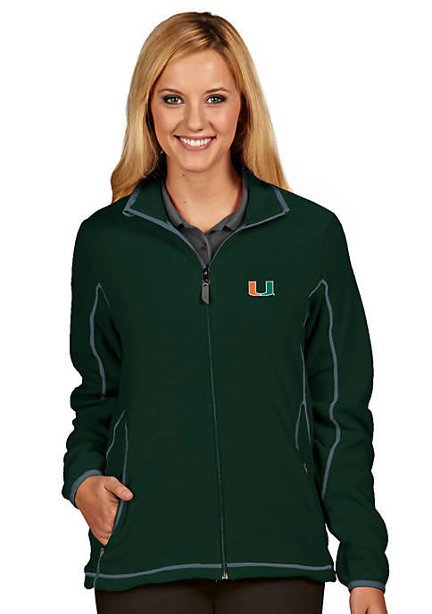 Antigua® Miami Hurricanes Womens Ice Jacket