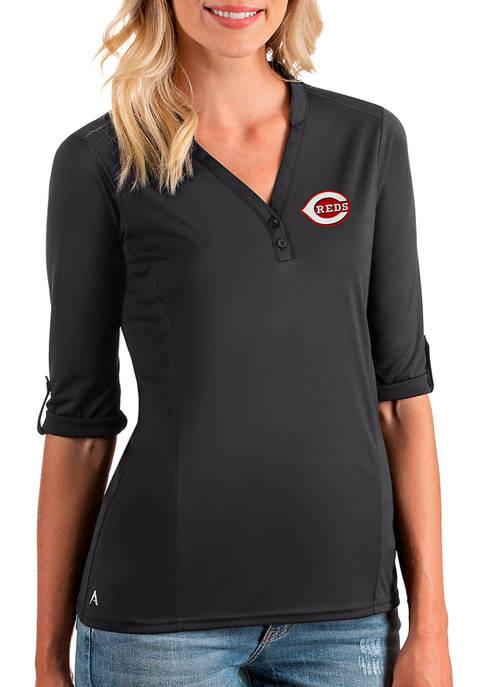Womens MLB Cincinnati Reds Accolade V-Neck Top