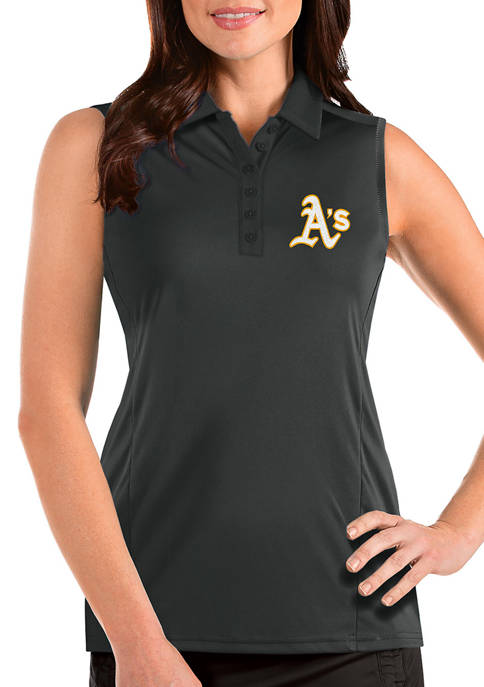 Antigua® Womens MLB Oakland As Sleeveless Tribute Top