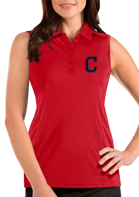 Womens MLB Cleveland Indians Sleeveless Tribute Top